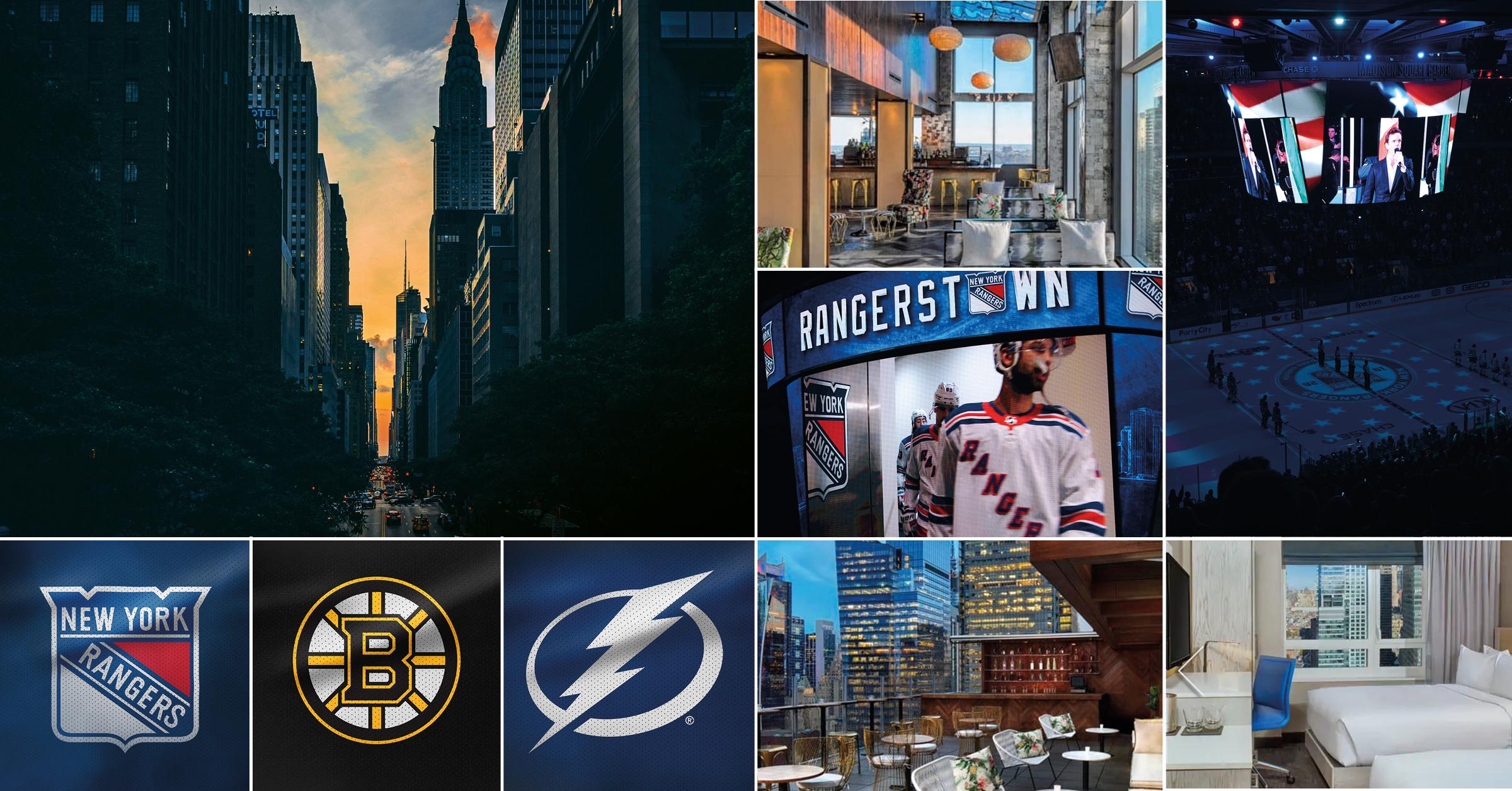 NHL-resa Höstlovet25-31 oktober 2019 - En höstlovsresa till New York där hockeyälskaren minst sagt får valuta för pengarna. Ett förstklassigt möte från Madison Square Garden när New York Rangers gästas av fjolårets finallag - Boston Bruins. Den andra matchen är mellan Rangers och stjärnfyllda Tampa Bay Lightning. Under hela vistelsen bor du ett stenkast från Times Square på Hilton Doubletree Times Square West.