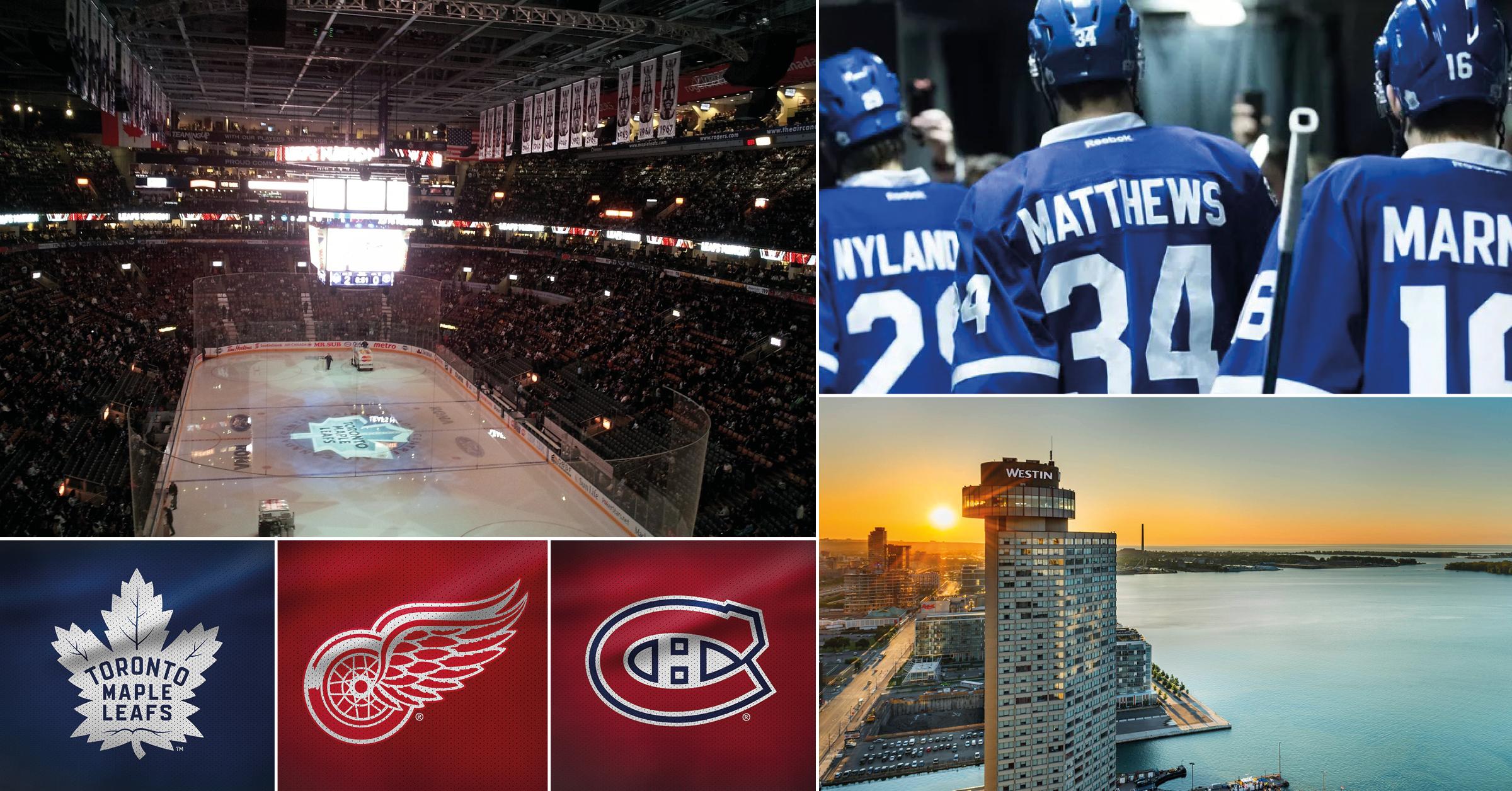 NHL-resa till Toronto 1-6 april 2020 - Nu har du möjlighet att följa med på en oförglömlig hockeyresa till Toronto. Under resan till Toronto kommer du att få uppleva två matcher i Scotiabank Arena, grundseriens två sista matcher mot Detroit Red Wings och derbyt mot rivalen Montreal Canadiens. På fyrstjärniga The Westin Harbour Hotel lär du trivas under vistelsen.