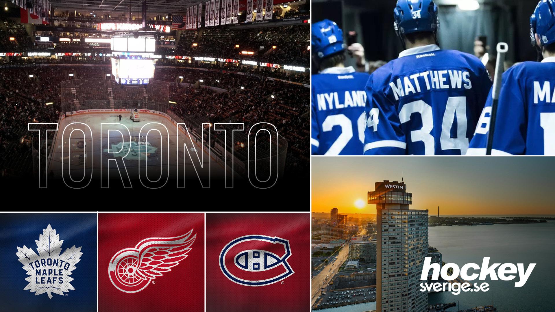 NHL-resa Toronto1-6 april 2020 - Magisk NHL-resa till Toronto med idel Original Six-klubbar. Maple Leafs mot Red Wings och rivalerna Montreal. Dessutom ingår en heldagsutflykt till Niagarafallen och vinprovning.