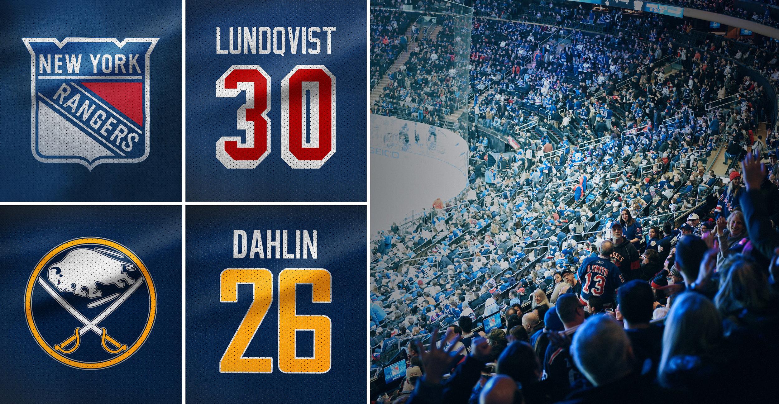 DAG 2 GAMEDAYRANGERS-SABRES - Lär känna staden New York med vår uppskattade stadsrundtur. En svensktalande guide tar oss runt till de bästa sevärdheterna som avslutas med en rundtur i Madison Square Garden. På kvällen tar New York Rangers emot Buffalo Sabres och vi möts av en spännande match med svensk vinkel när Henrik Lundqvist och Rasmus Dahlin drabbar samman.