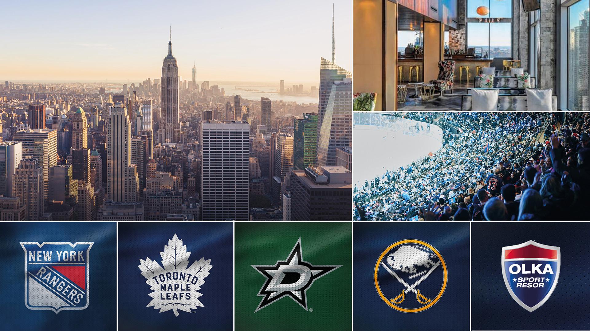 NHL-resa New York med svenskmöten - 2-9 februari 2020 | Tillsammans med OLKA sportresor anordnar vi en hockeyresa till New York där tre matcher med New York Rangers i Madison Square Garden väntar, alla med heta svenskdueller mot Dallas, Toronto och Buffalo.