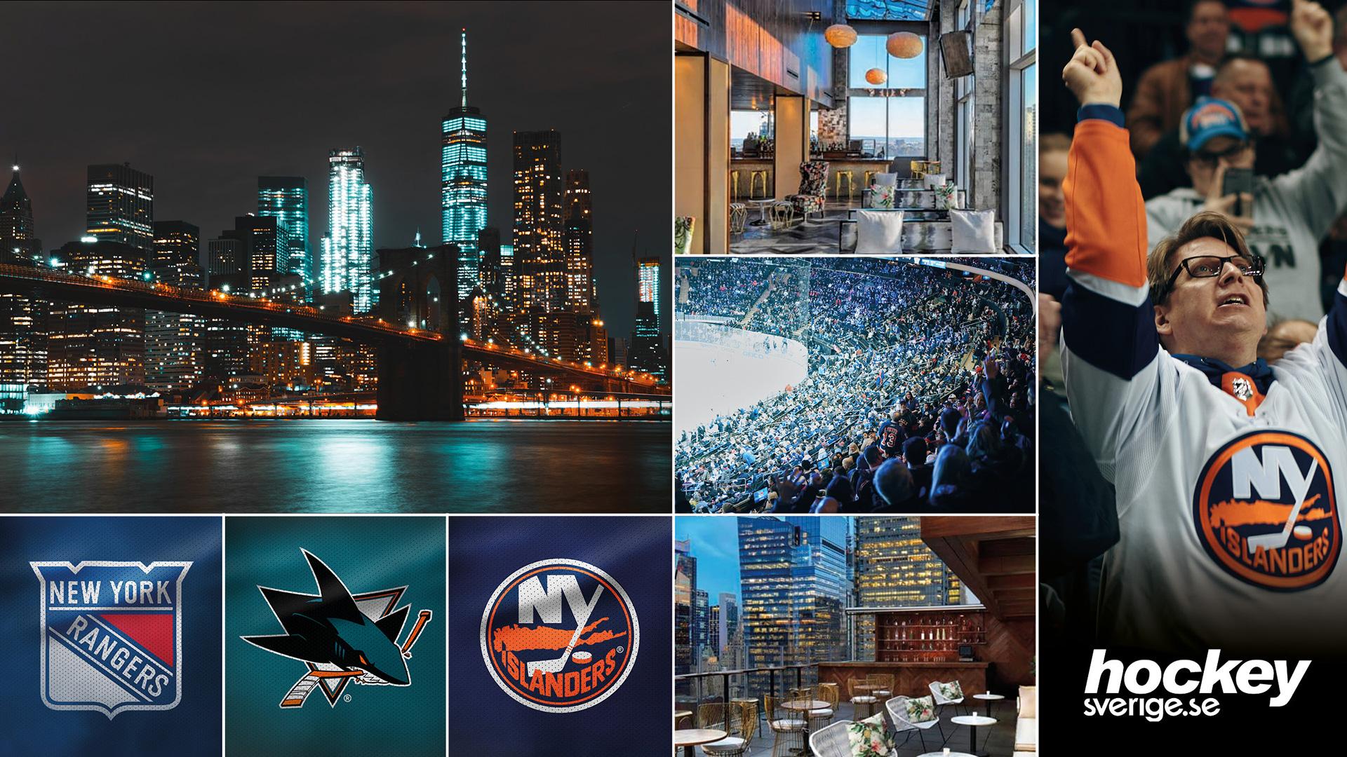 NHL-resa New York21-27 februari 2020 - Två matcher från NHL, betalda upplevelser och boende nära Times Square är en del av den här hockeyresan till New York tillsammans med Hockeysverige. Rangers-Sharks samt New York-derbyt Rangers-Islanders.