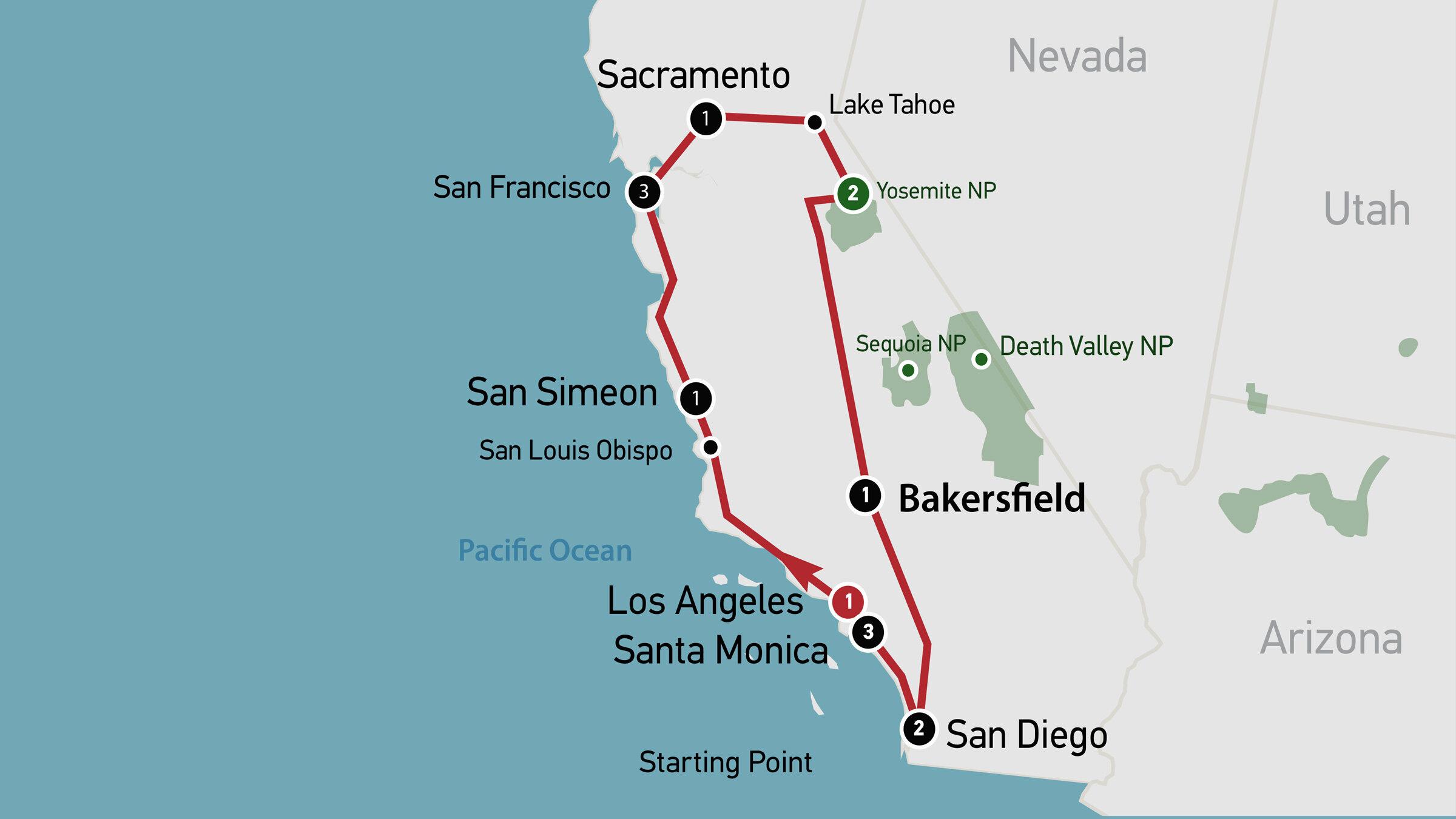 Self Drive Kalifornien Supreme Travel