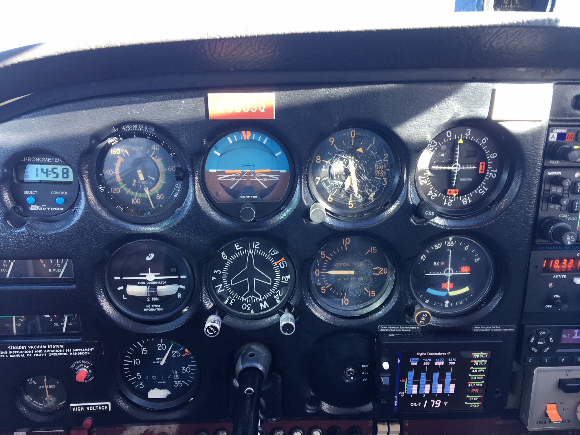 Blow up of Cessna 172 Dash