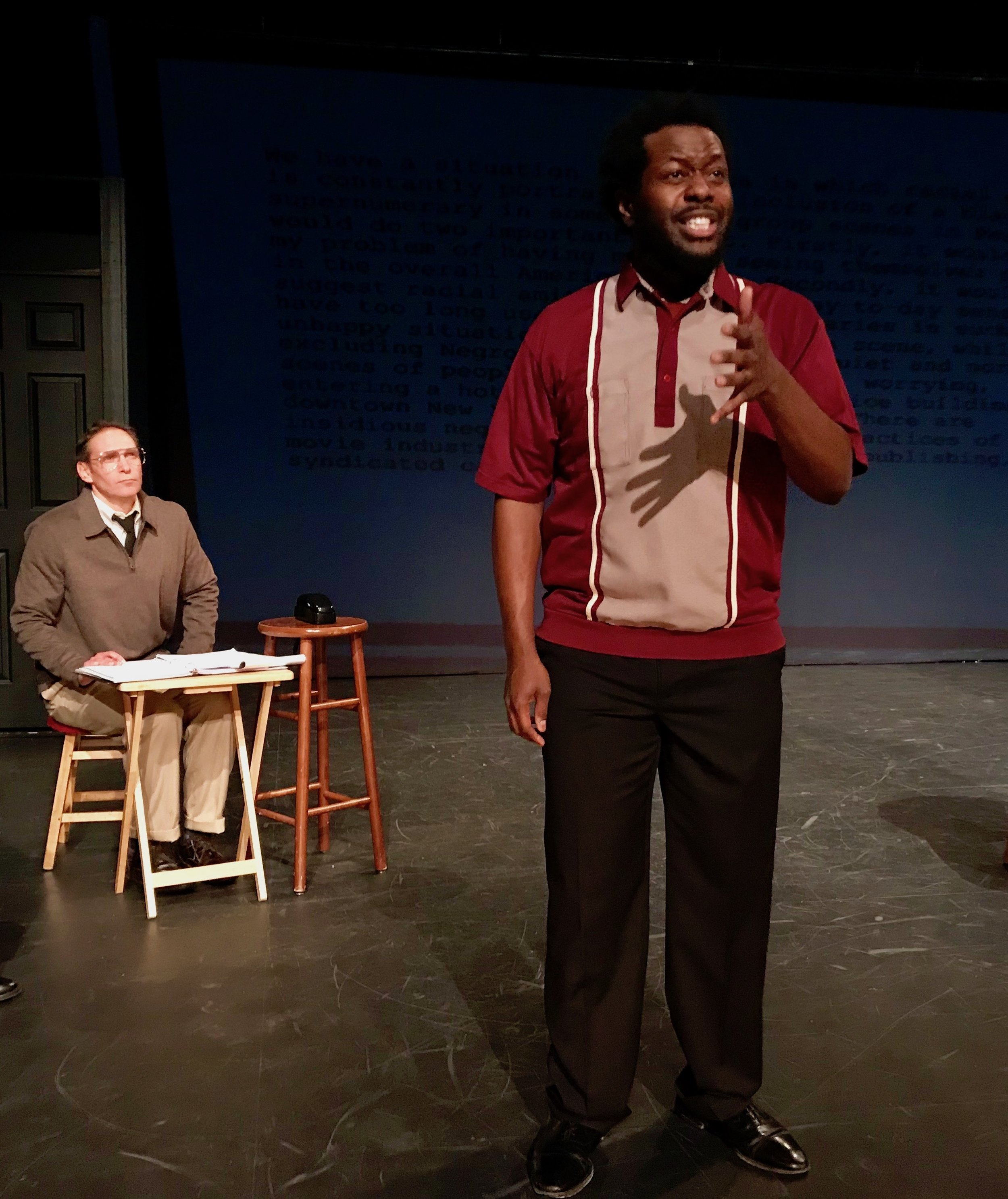 "(L to R) Jeff Bodnar and Cordara Newson in ""Sparky."""