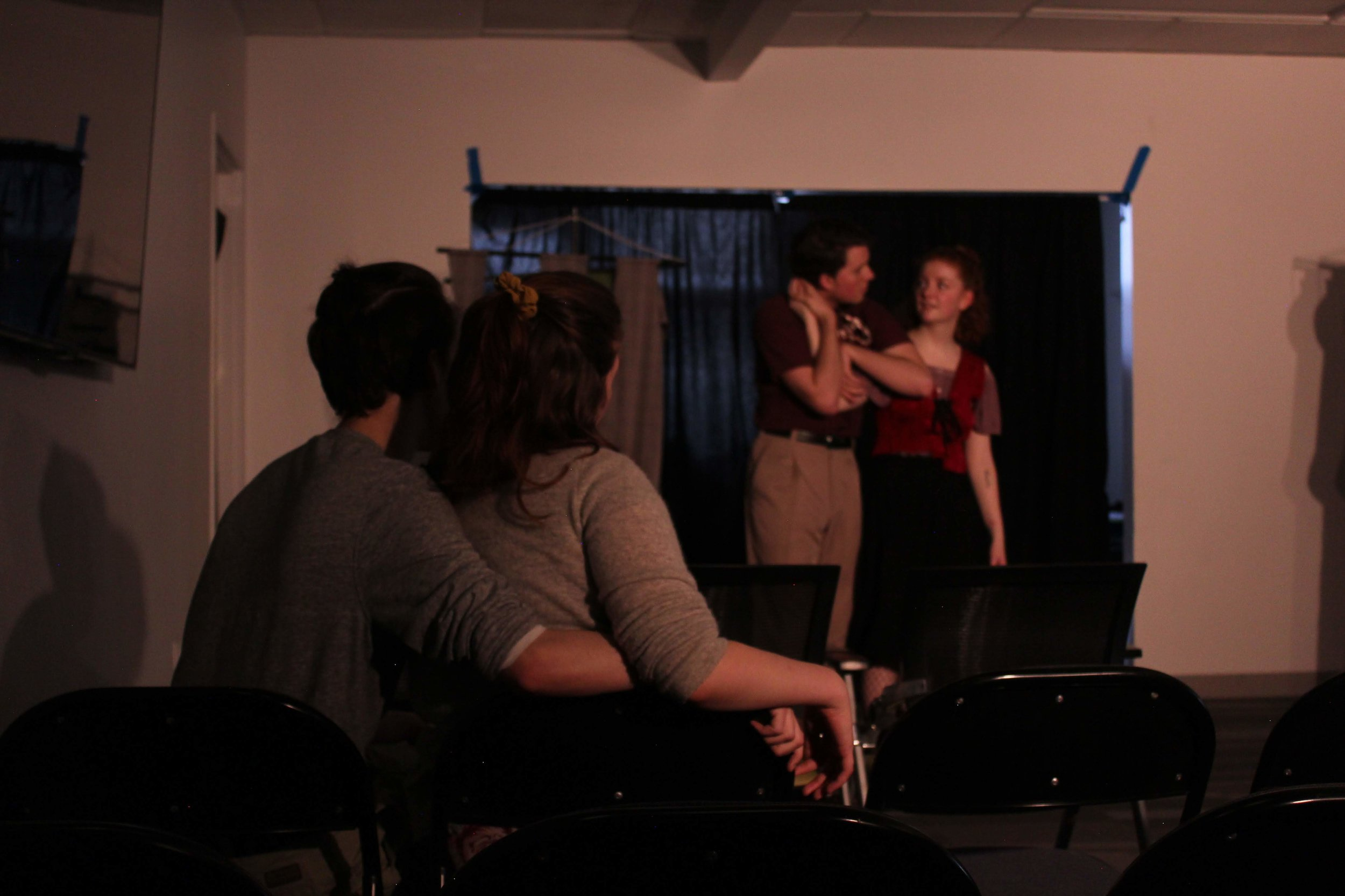 "(L to R) Taylor Larson, Emily Conlon, Colby Ourand, and Leah Sandow in ""Knight of the Burning Pestle"""