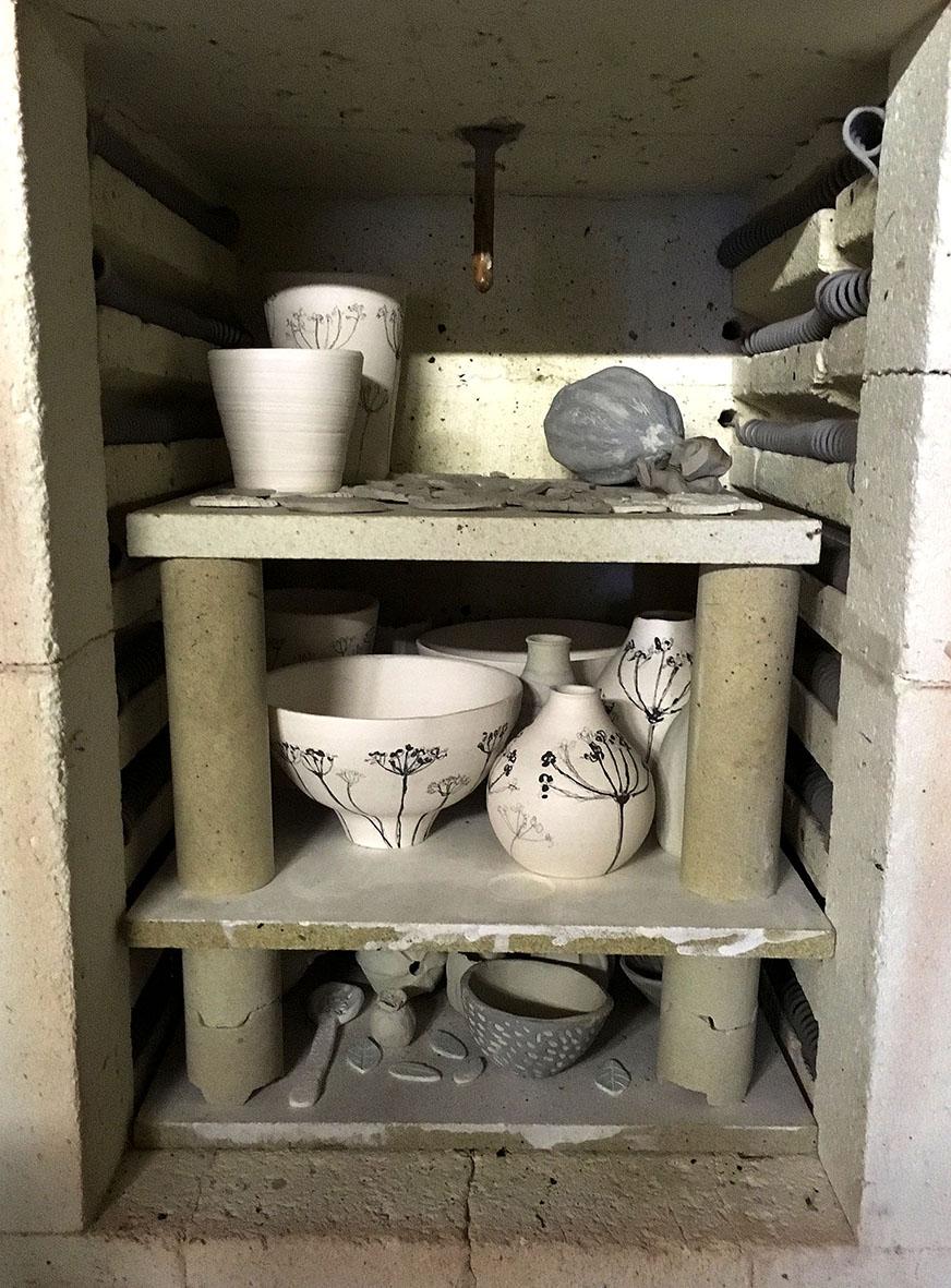 Opening the kiln …