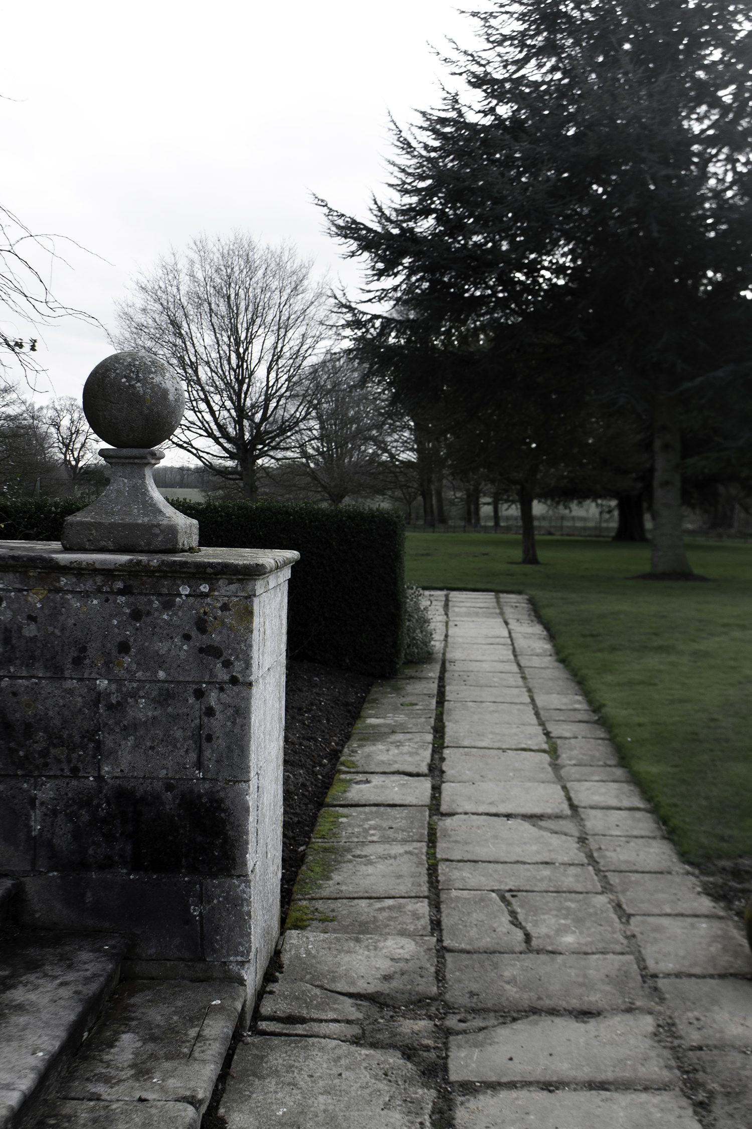 Part of the formal Front Garden