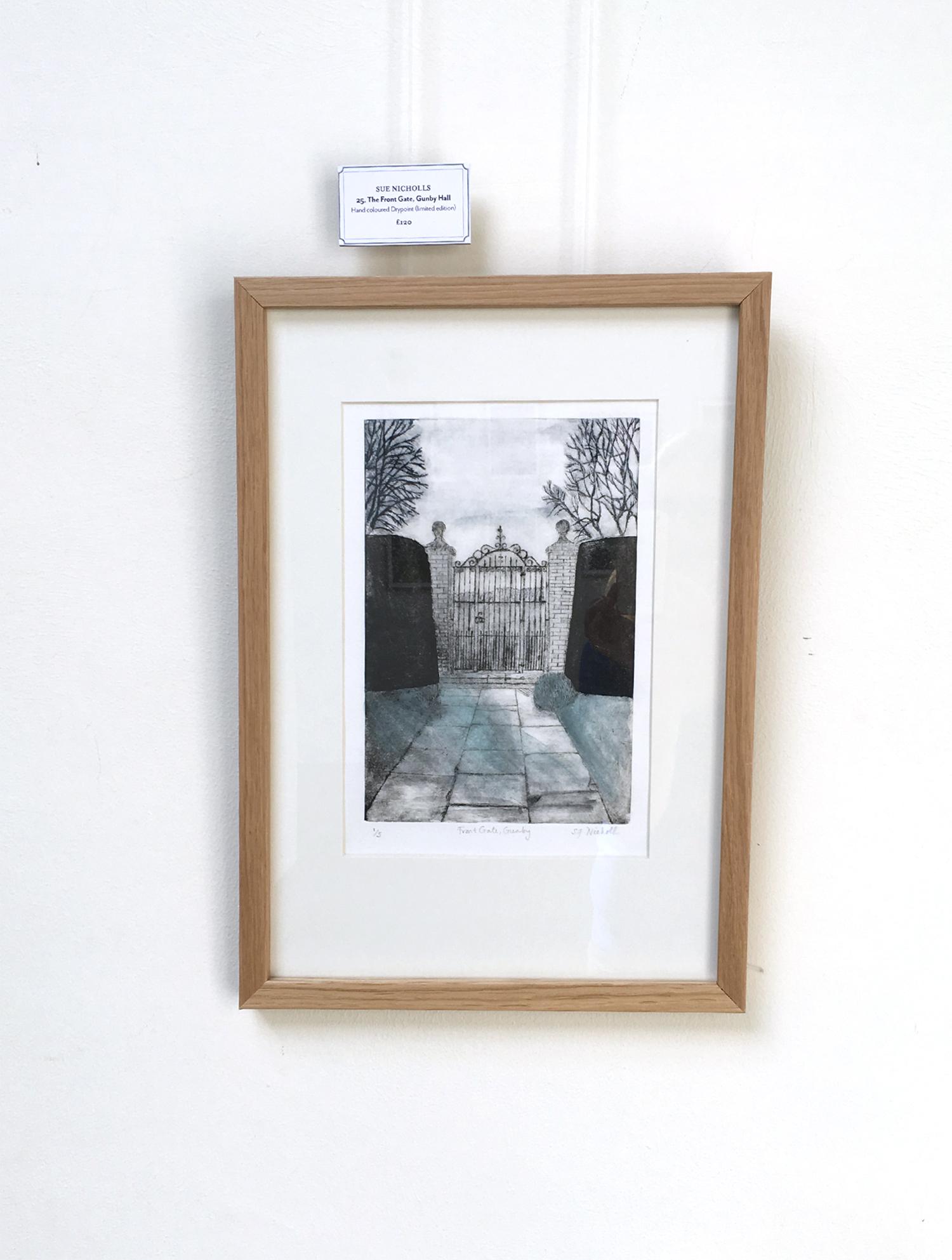 Sue Nicholls Front Gates Gunby Hall