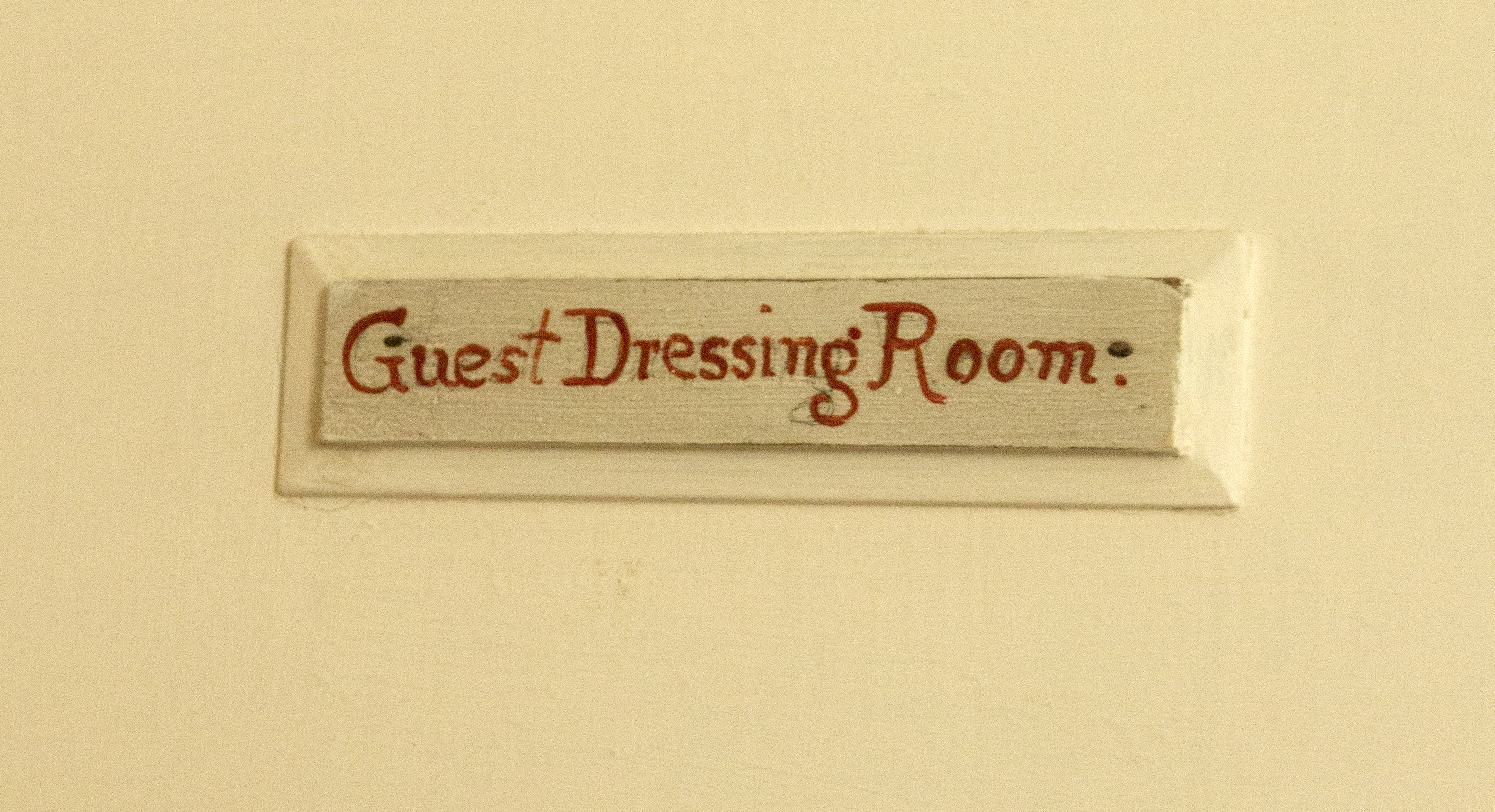 A room label in the house