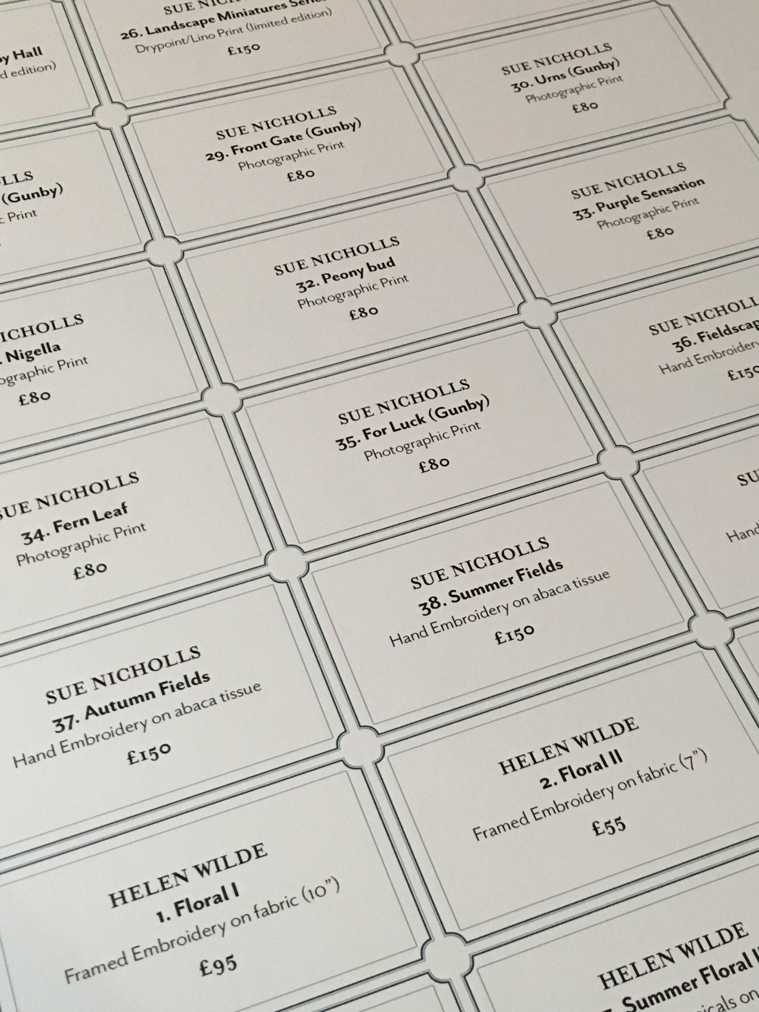 Exhibition labels design