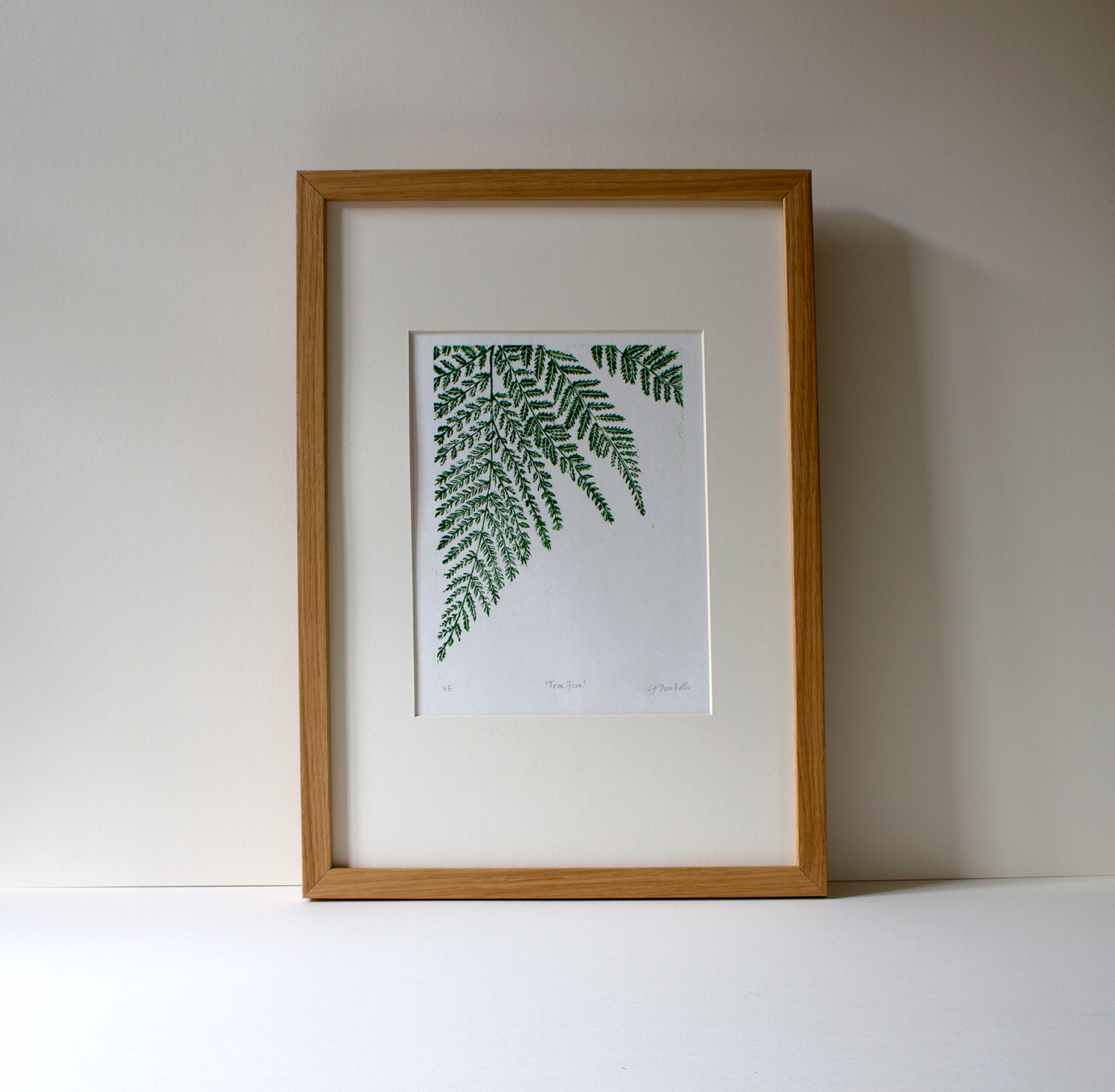 Tree Fern  linoprint