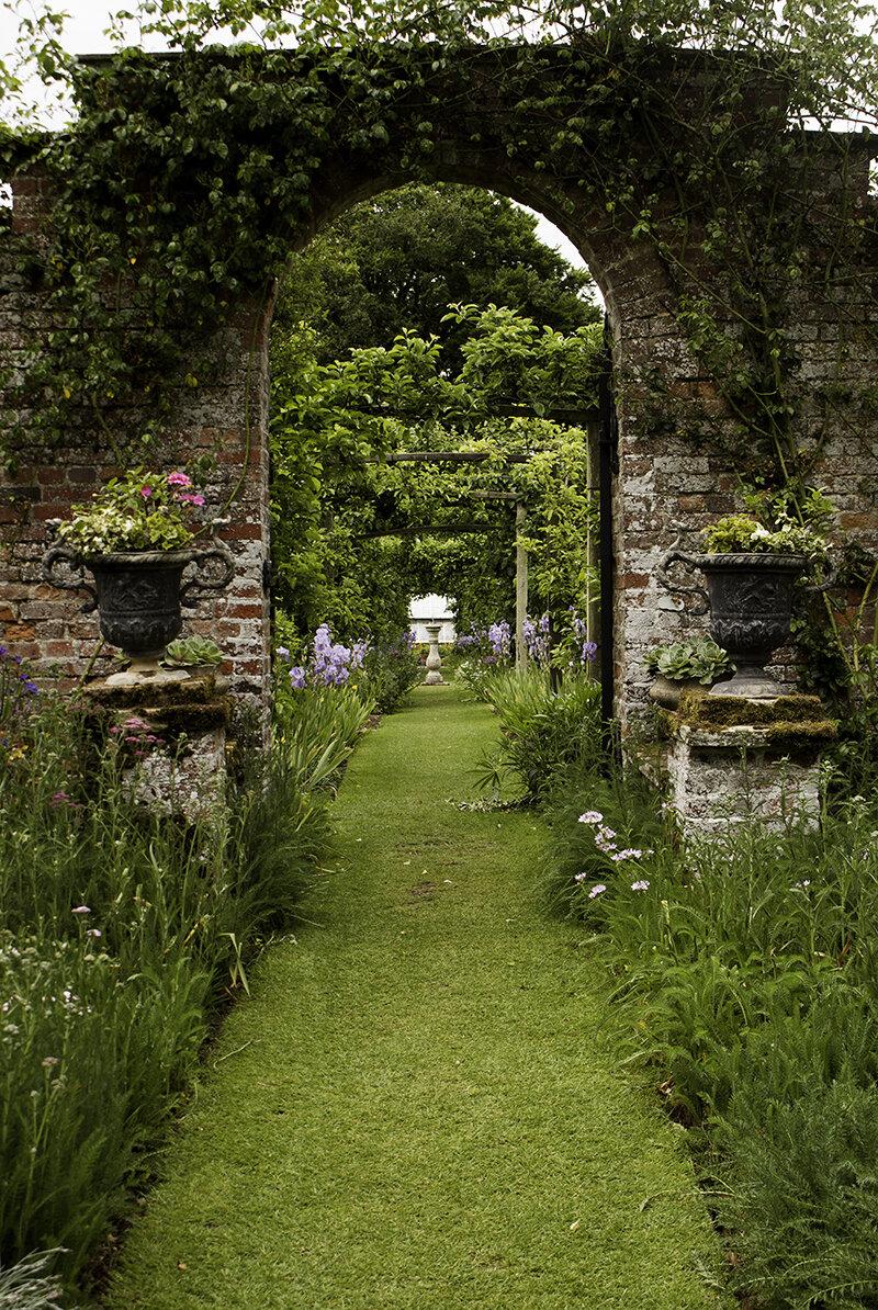 Gunby Hall Pergola Garden  - Print available to buy