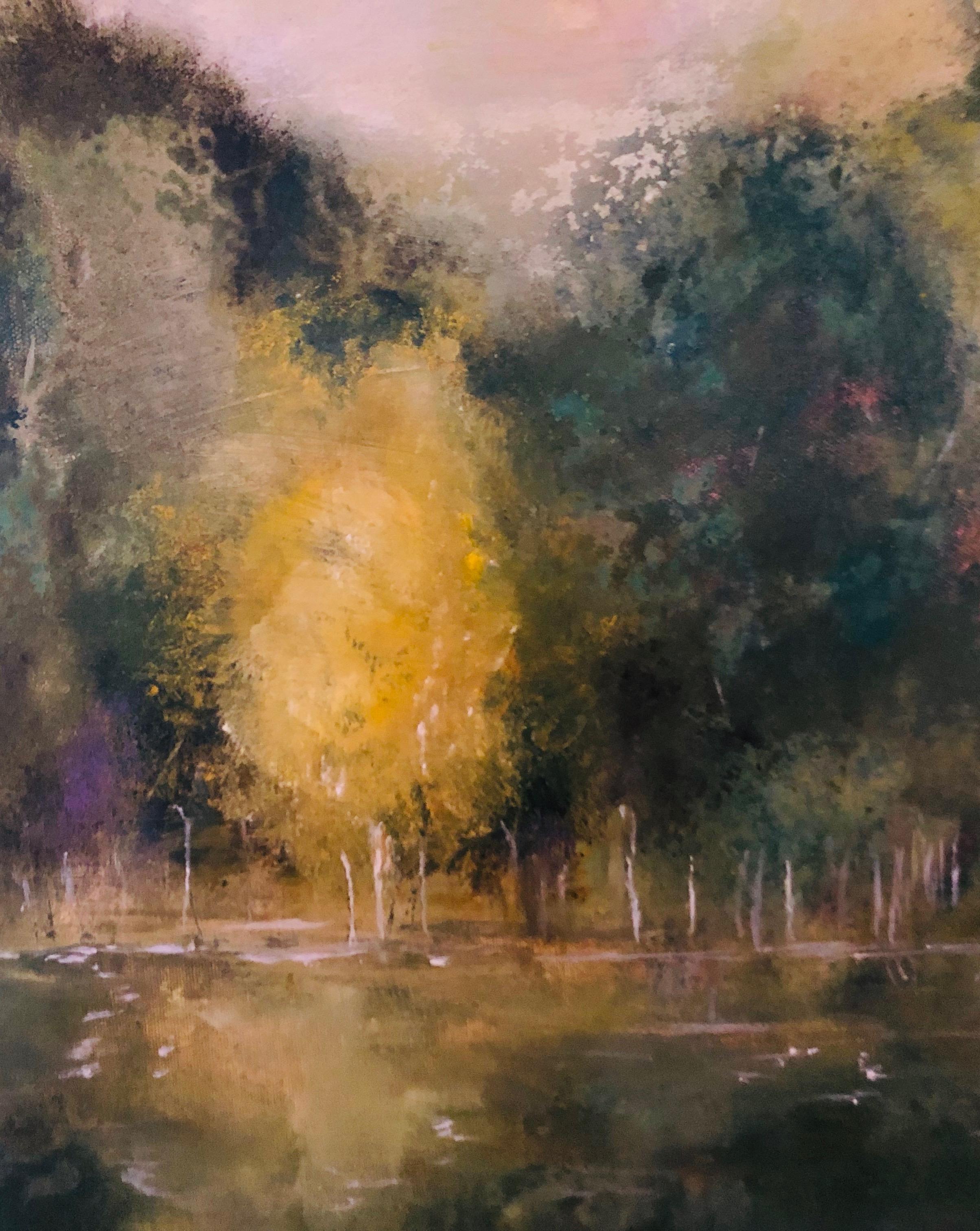 'A walk along the pond'