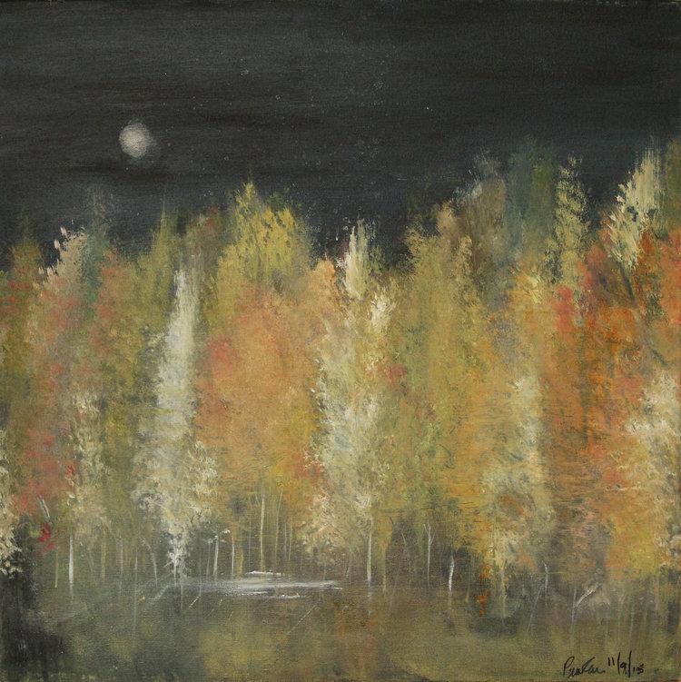 'Harvest Moon over Echo Lake'