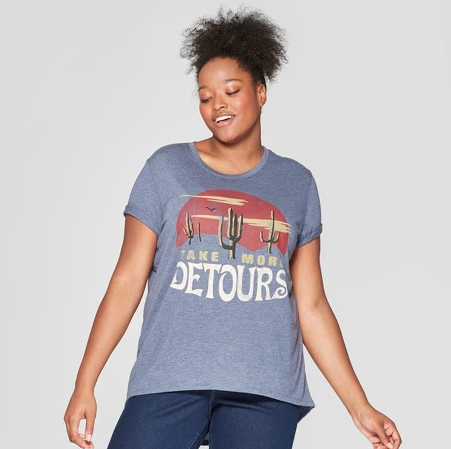 Graphic Tees - My biggest tip is to find a graphic tee that fits your style and interests. I recently bought this one from Target because I liked the colors and the message!Click image to shop.