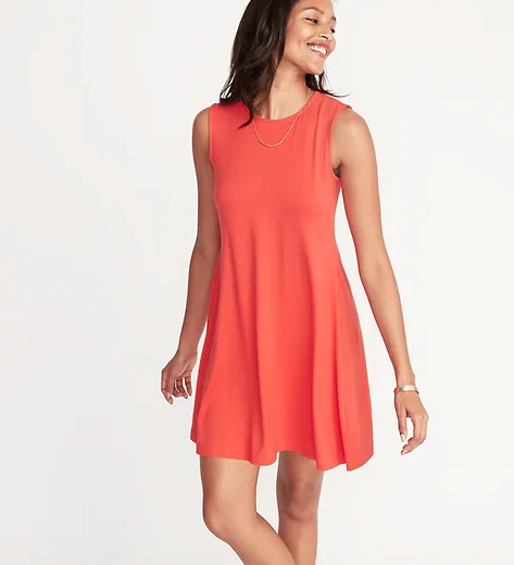 Bold or Pattern Knit Dress - On the WEC you'll find a neutral knit dress is a must have. I want you to have more fun in the sun with color and pattern! I bought this one in 2 colors and I can't sing its praises enough. It fits every size and shape perfectly!Click image to shop.