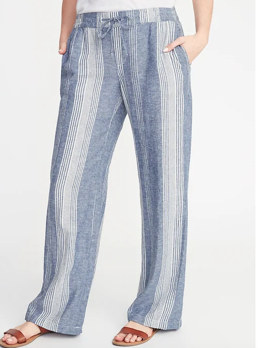 Linen or Chambray Pants - If wearing shorts or skirts aren't your thing, these are a perfect alternative to keep you comfortable this season. I ordered 4 pairs of these from Old Navy, they'll look perfect with a graphic tee and some tortoise earrings ;)Click image to shop.