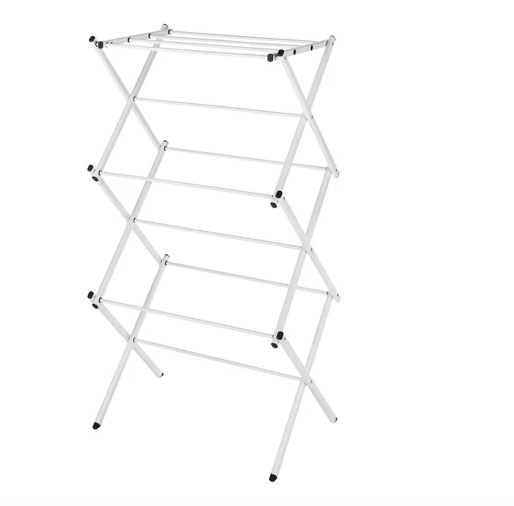 Compact Drying Rack - This is the #1 essential you need to get the best wear out of your apparel. I hang dry all my blouses, dresses, and other delicate fabrics. This helps to avoid pilling on knits and destruction of garments!Click image to shop.