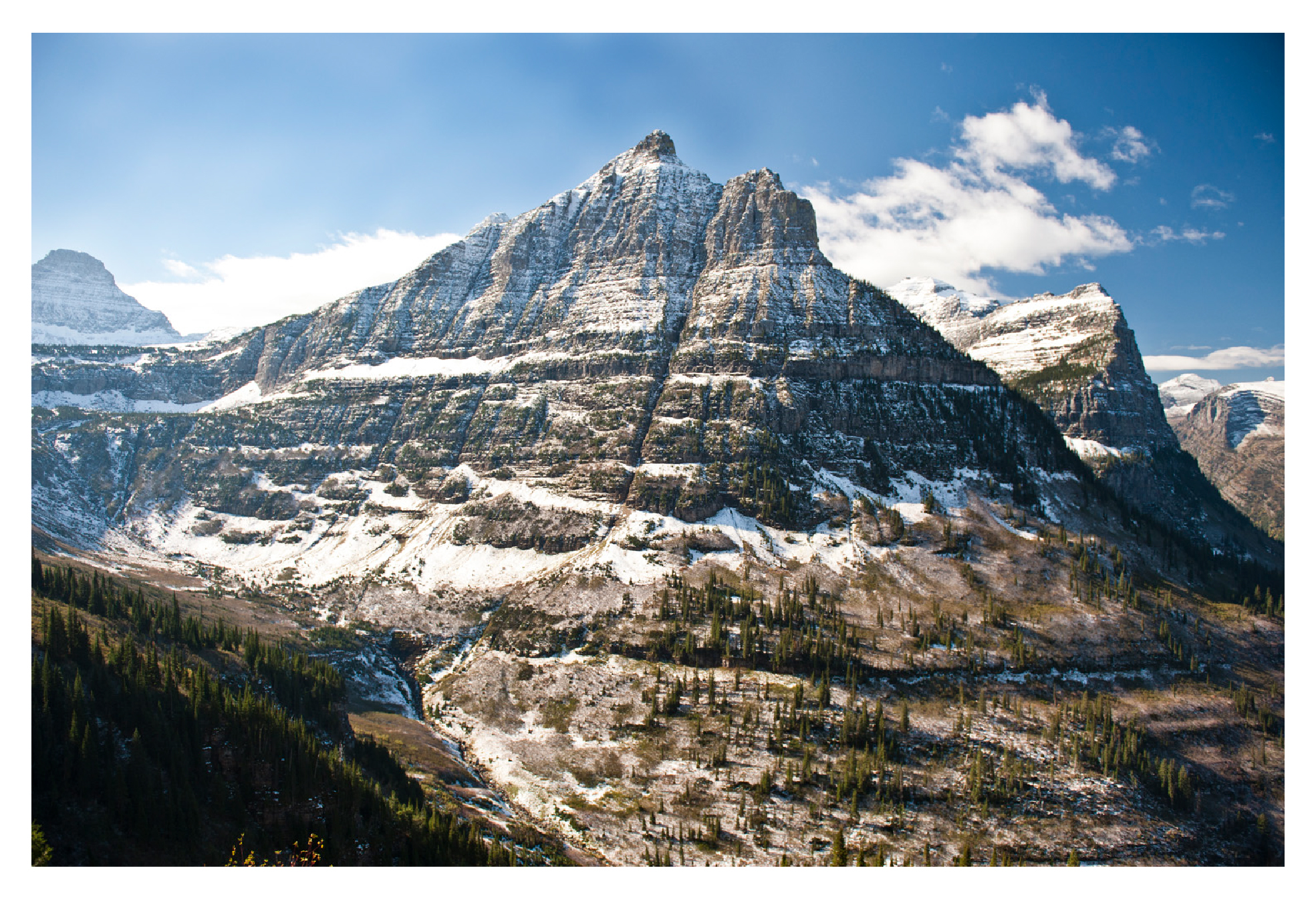 Glacier National Park mountains