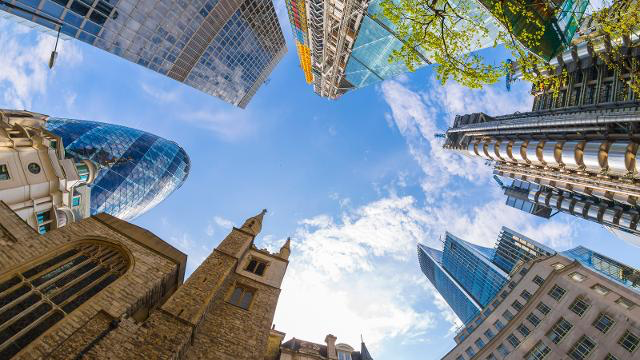 Skyscrapers, City of London including The Gherkin. Photo: © Pawel Libera/London and Partners