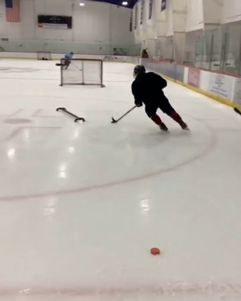 """Weekly Tune Up skate is going well. The guys are getting after it and putting in their work each week. If you play in college, pro, or high level junior DM us for details on any of our elite programs. Gearing up for the end of August where we will have our week long 2Nut Tune Up Camp for Testicular Cancer Awareness. """"Success is never owned only rented, and rent is due every day"""" - Someone  Can't remember where I heard that quote but it's so true. If you want to play at a high level, you need to train at one.  Kids take notes on the way these guys practice. The energy level is high and they COMPETE every second they're on the ice.  #capecodhockey #capecod #hockey #summerhockey"""