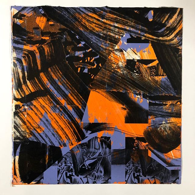 Untitled, 2012, acrylic and transfer on paper, 14x15 inches.