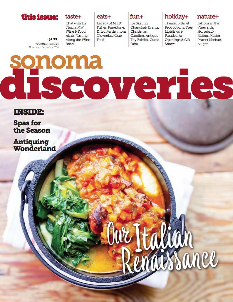 Sonoma Discoveries - 2016 Nov-Dec