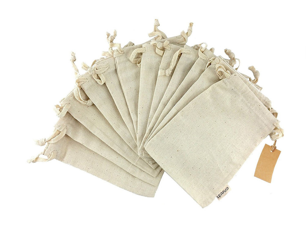 Produce Bags - 100% Cotton Reusable Bags to buy Bulk