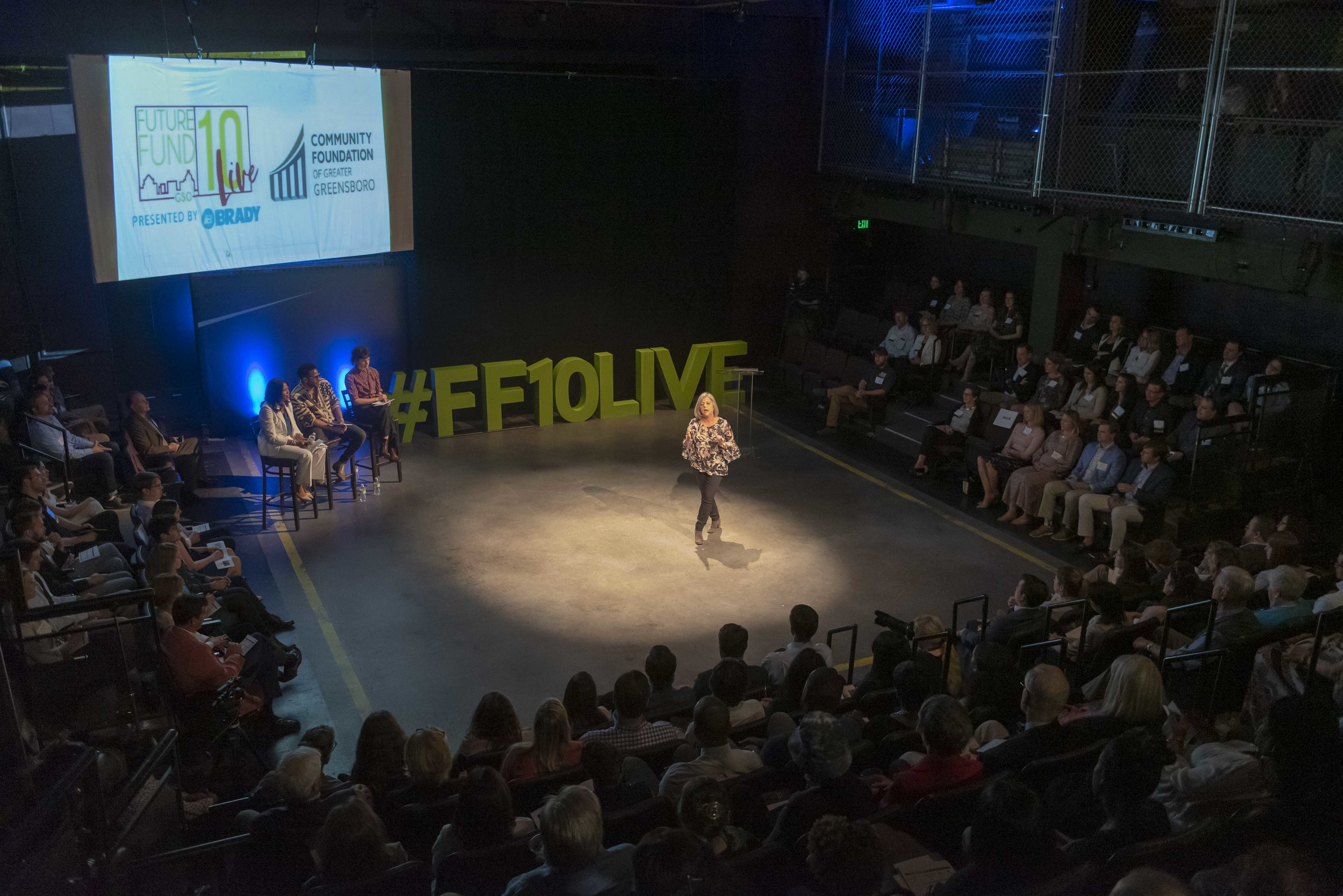 Nancy Micca of Family Support Network gives her pitch at FF10LIVE 2019