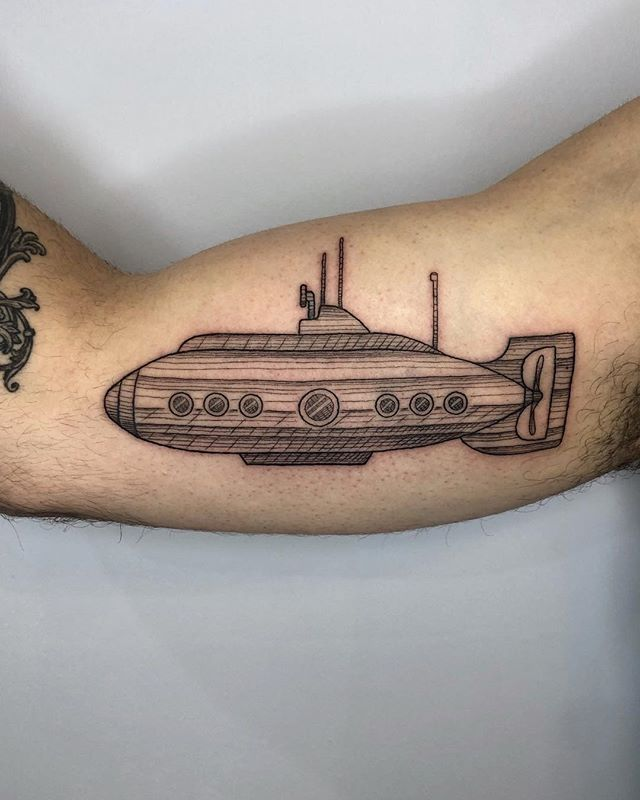 Submarine for long time client Adam • dukkhatattoo@gmail.com