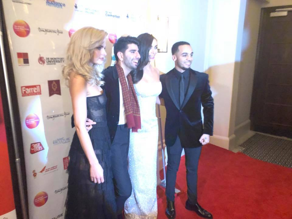 Jerry-Jane Pears, Kush Khanna, Amy Jackson and Aston Merrygold at the 'Boogie Man' premiere.