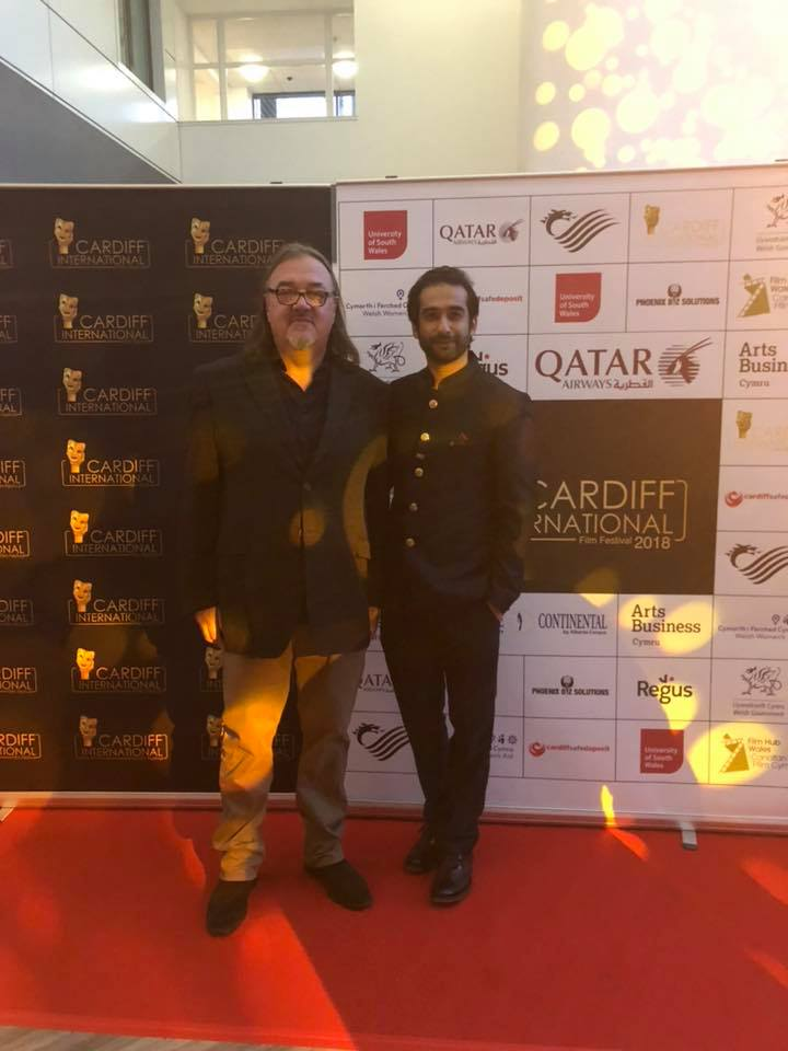 Andy Morahan at CIFF with founder Rahil Abbas.