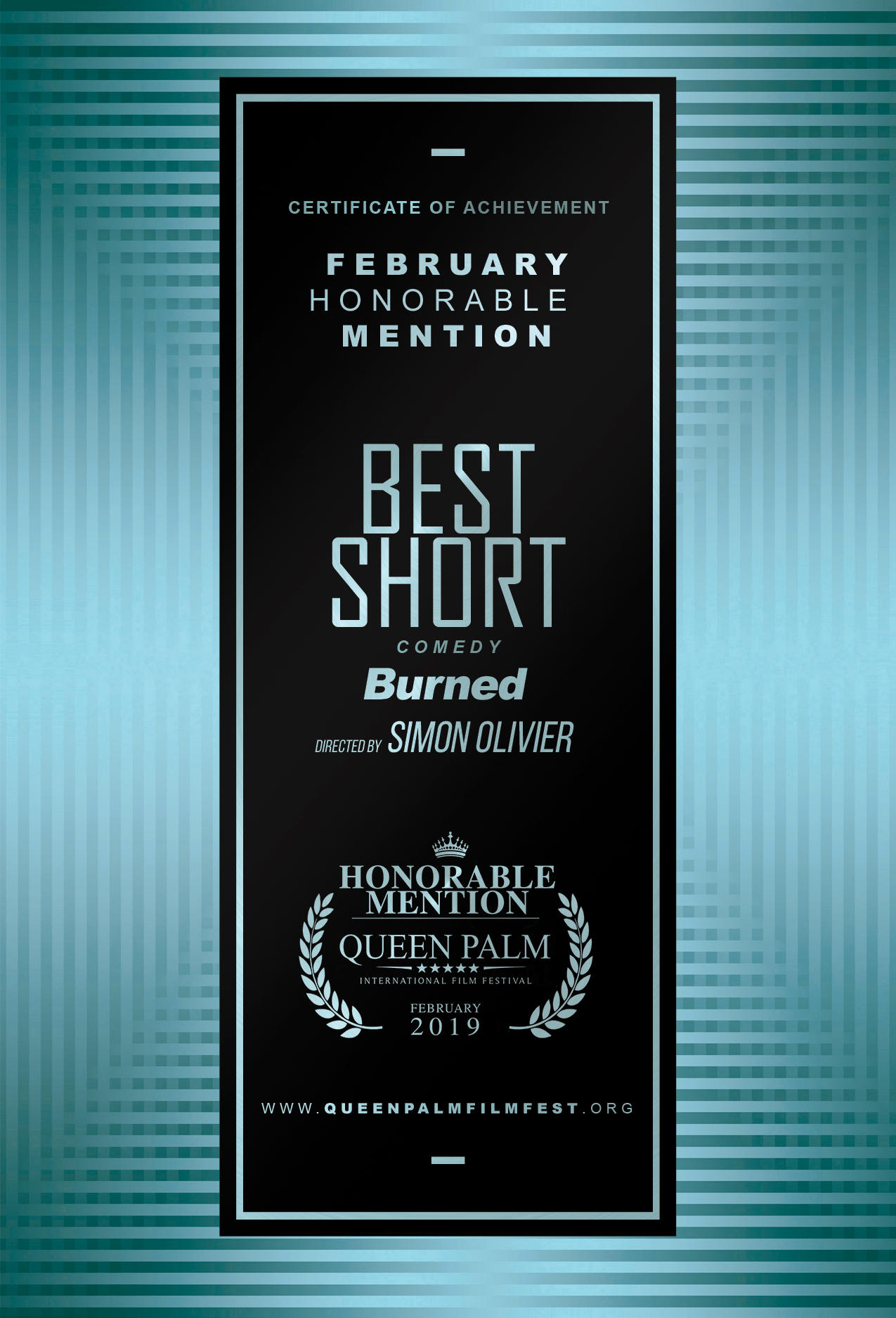 QPIFF HONORABLE MENTION CERTIFICATE - BEST SHORT - COMEDY - SIDE B.jpg