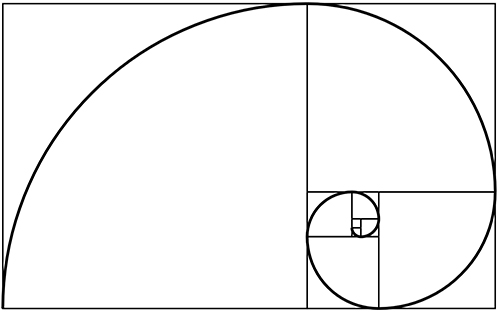 Fibonacci spiral, also known as the golden ratio