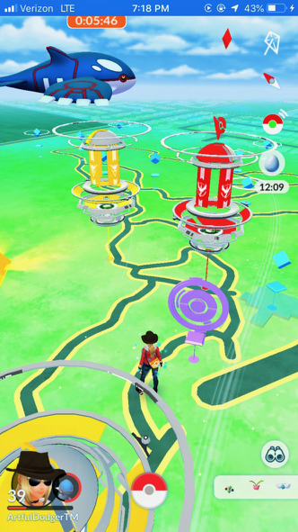 View of the Preserve on the Pokémon app, (From the parking lot)