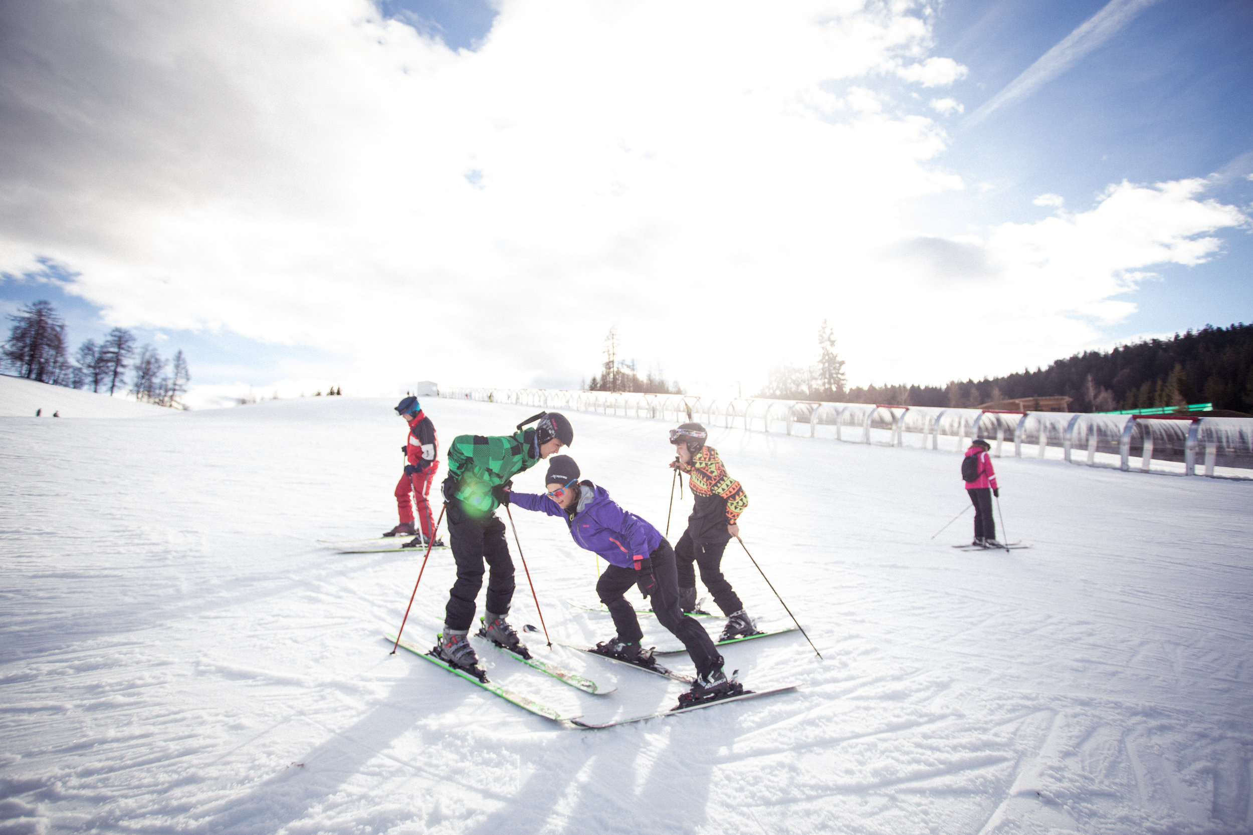 People of every age and every level are welcome to experience the passion for skiing. -