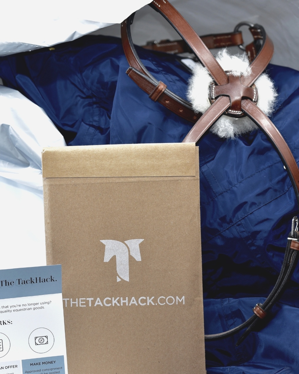 The TackHack Consignment Kit. - Aka, the kit for everything else. Our kit makes shipping your equestrian tack and apparel a breeze, and your items ship to us for free. Request your free kit here and receive everything you need to clean out your tack box and make hay.