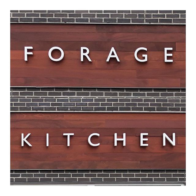 Enjoyed working with Arts and Sons on the sign for the new @forage_kitchen at Hilldale Mall. The letters are backlit and individually channeled for a clean finish.