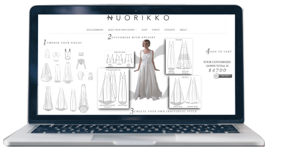 Online Build Your Own Gown Tool
