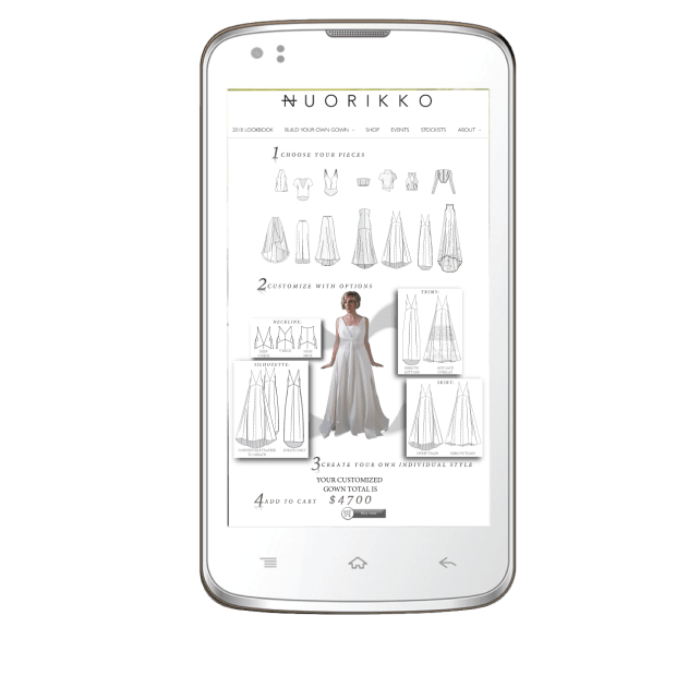 Responsive Mobile Integration of BYOG Tool, including fit & sizing suggestions