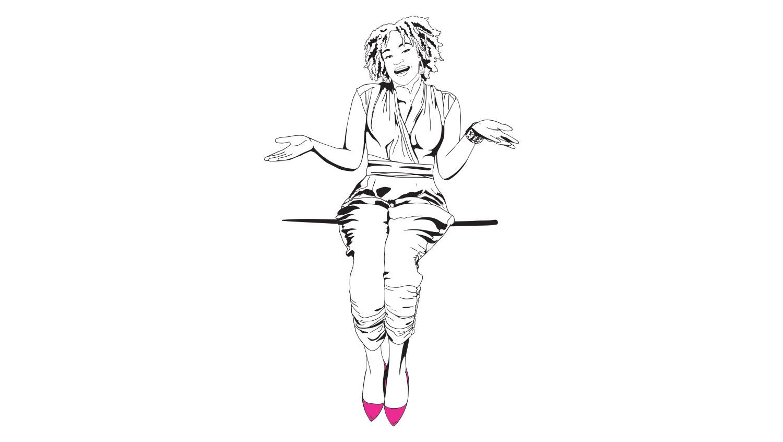 Akilah-sitting-ledge-female-comedy-writer.jpg