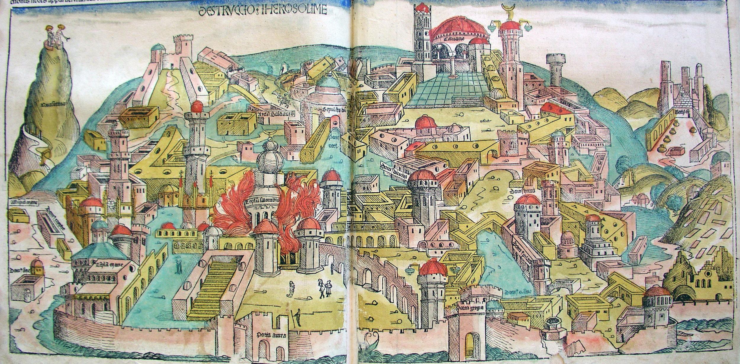 """   Destruction of Jerusalem   ,"" Nuremberg Chronicle, 1493"