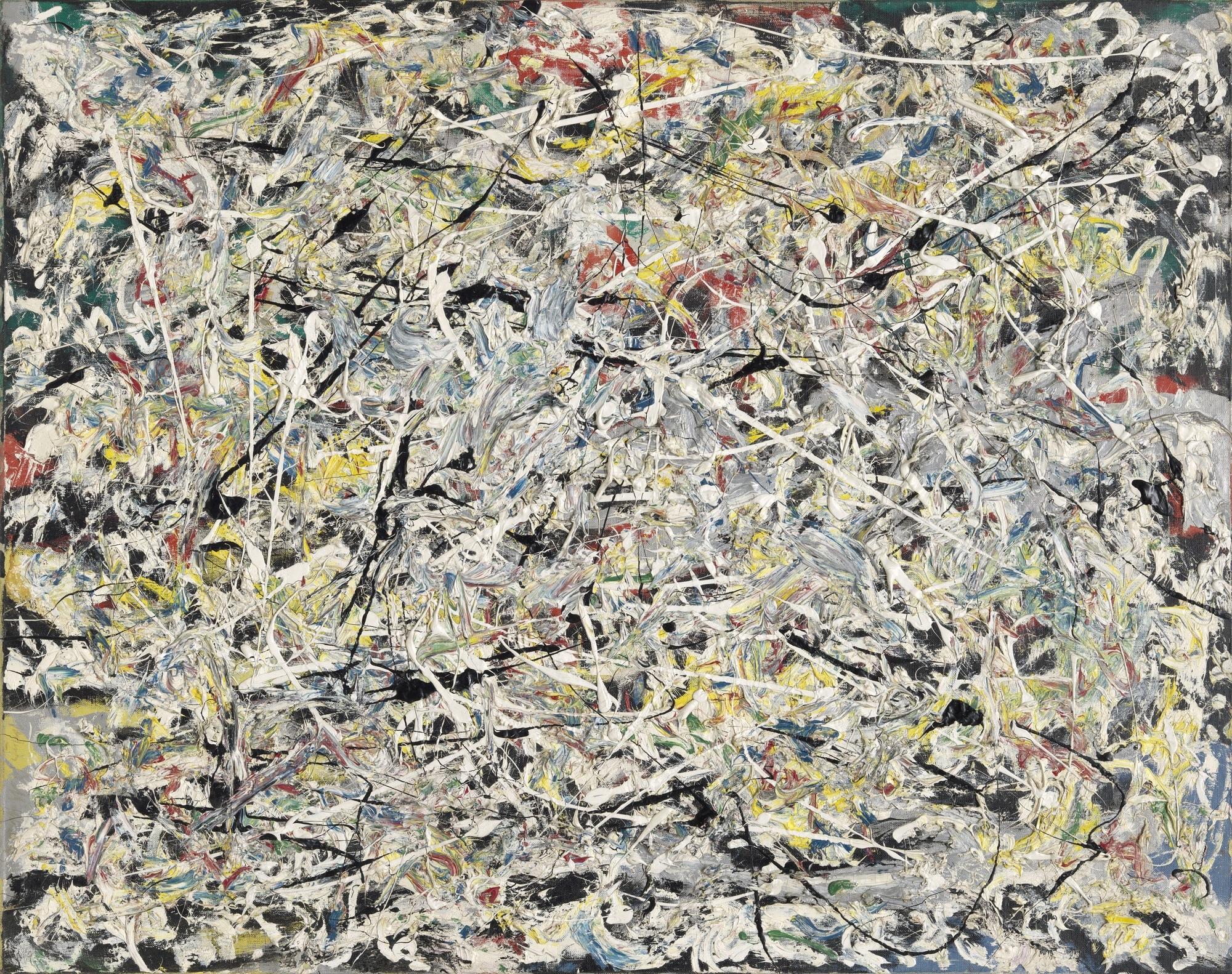 White Light,    1954 by    Jackson Pollock