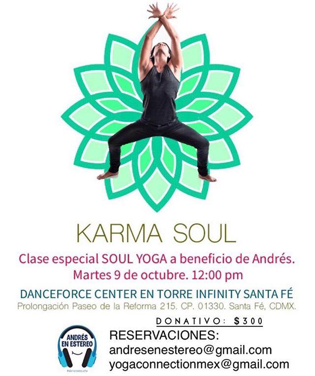 Únete a nosotros y ayuda a Andrés haciendo yoga.  Martes 9 de Octubre. Gracias @yogaconnectionmex y @alejandroquiyono por sumarse a nuestra causa.  #elamorseescucha #microtia #atresia #gofoundme #dar #yoga