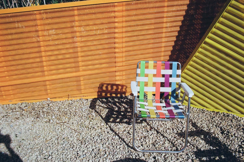 The Saguaro Hotel outdoor patio area