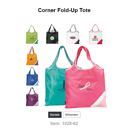"""Pack it in with this fun, unique tote that's perfect for the grocery store or farmers market. Tote folds into a carrying pouch with drawstring, has 18"""" shoulder straps and is PVC free. When folded, pouch dimensions approx: 5""""H x 12"""" dia. This product is kid-friendly/CPSIA compliant."""