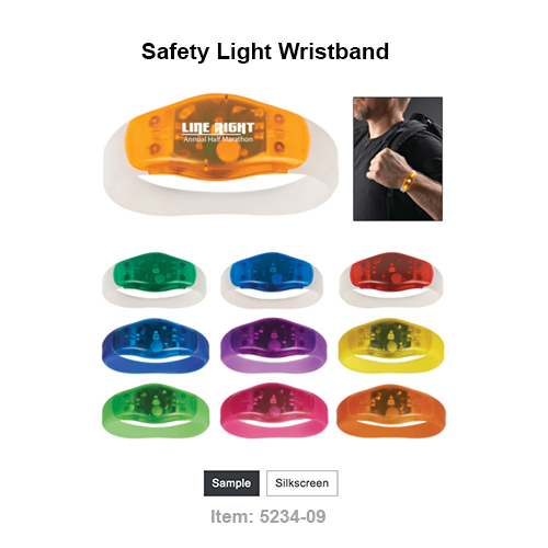 Stay Safely Visible While Running, Walking, Biking, Etc. Two Different Light Settings One Size Fits Most Push Button To Turn On/Off Button Cell Batteries Included