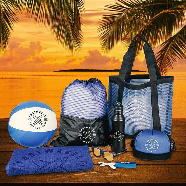 It's summer, have some fun! That's what our new beach collection of #promotionalproducts is all about. You want to promote your #brand with fun, stylish items clients can take on their outdoor or beach outings. Classic items like #drawstringbags or #customtotes can match up with #promotionaltowels and #truckerhats Check out the full collection: http://bit.ly/2MaHi8P #corporategifts #summer #summerfun #event #employeemorale #festival