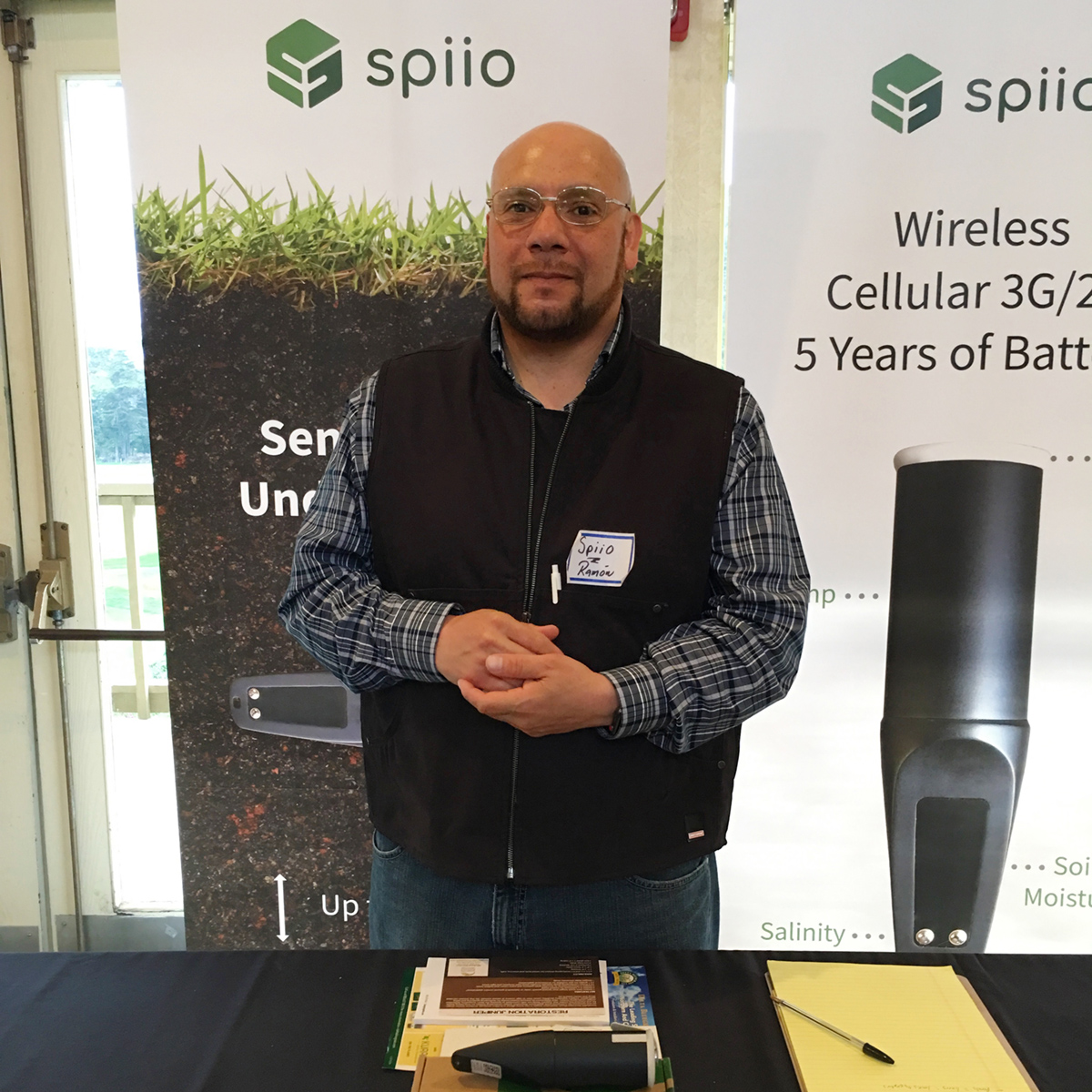 Ramon Rodriguez for Spiio, ready to talk about their Irrigation System with wireless moisture sensors
